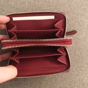F23750 STYLE Authentic Coach Crossgrain Leather Small Double Zip Coin Purse